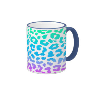 The Funky Leopard Ringer Coffee Mug