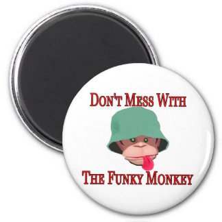 The Funky Monkey 2 Inch Round Magnet