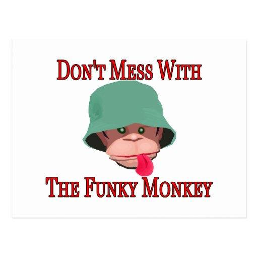 The Funky Monkey Postcard