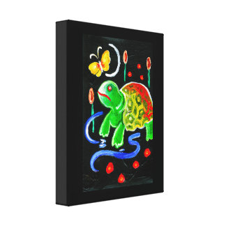The Funky Turtle Canvas Print