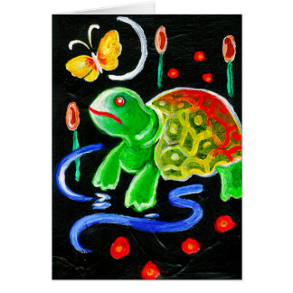 The Funky Turtle Greeting Card