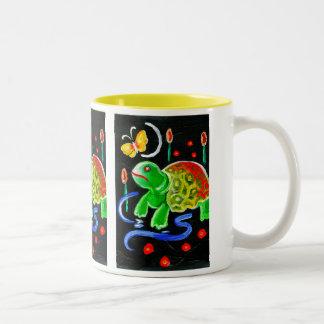 The Funky Turtle Two-Tone Coffee Mug
