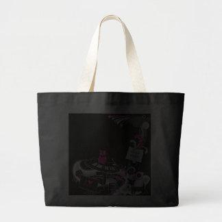 "The funny black bag design ""Creasy music""."