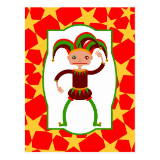 The funny clown postcard