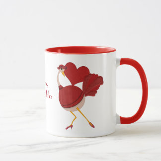 The Funny Ostrich Wears High-fashion Clothes Mug