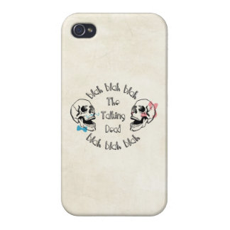 The Funny Talking Dead Skull Picture iPhone 4 Covers