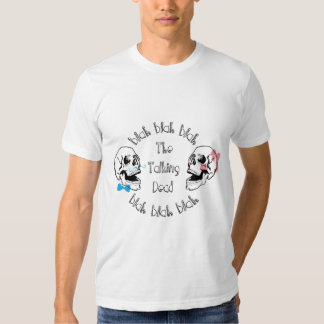 The Funny Talking Dead Skull Picture Tee Shirt