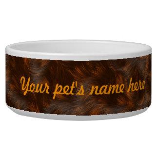 The fur collection - Calico Fur Dog Food Bowl