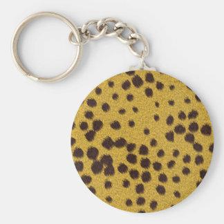 The fur collection - Cheetah Fur Basic Round Button Keychain