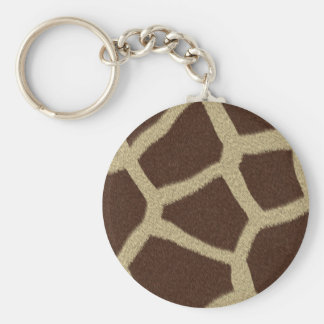The fur collection - Giraffe Fur Basic Round Button Keychain