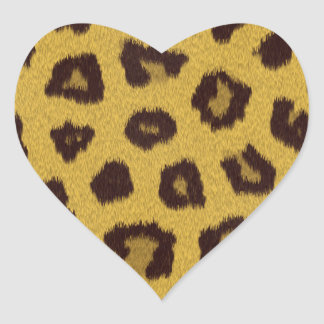 The fur collection - Leopard Heart Sticker