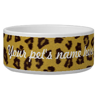 The fur collection - Leopard Dog Bowl