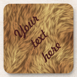 The fur collection - Shaggy Fur Beverage Coaster
