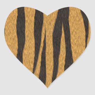 The fur collection - Tiger Heart Sticker