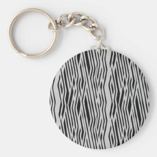 The fur collection - Zebra Basic Round Button Keychain