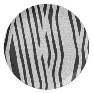 The fur collection - Zebra Dinner Plate