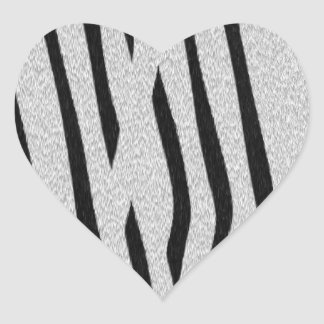 The fur collection - Zebra Heart Sticker