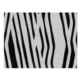 The fur collection - Zebra Postcard