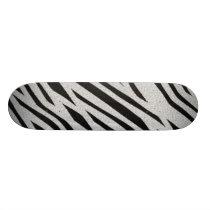 The fur collection - Zebra Skateboard Deck