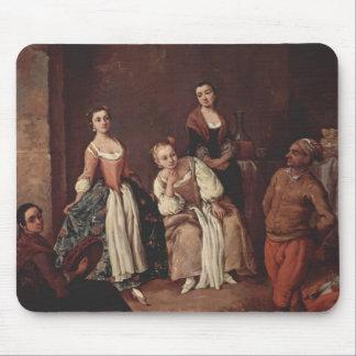 The furlana Venetian dance by Pietro Longhi Mouse Pads