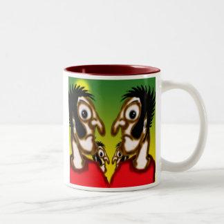 The furrowed brows of silence mug. Two-Tone coffee mug