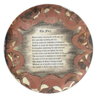 The Fury Melamine Plate