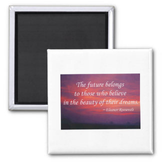 The Future Belongs 2 Inch Square Magnet