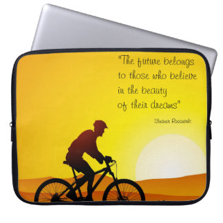 The future belongs to those who believe Roosevelt Laptop Sleeve