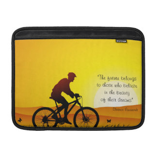 The future belongs to those who believe Roosevelt MacBook Air Sleeve