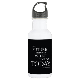 The Future Inspirational Motivational Quote Stainless Steel Water Bottle