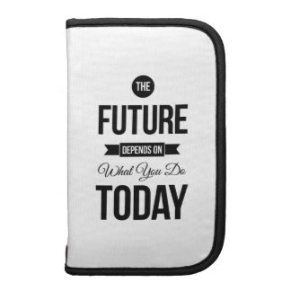 The Future Inspirational Quotes White Organizers