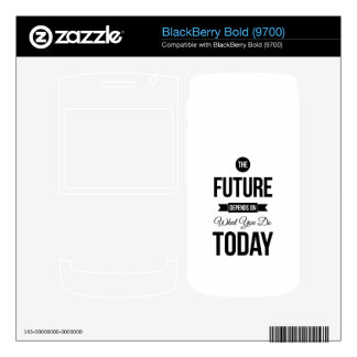 The Future Inspirational Quotes White BlackBerry Bold Skins