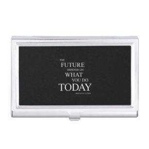 Business Card Case Card case Motivational words Create Yourself 3666 Motivation Inspirational Words business card holder