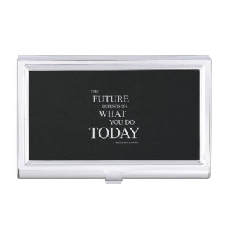 Typography business card holders cases zazzle the future inspiring motivational quote case for business cards colourmoves