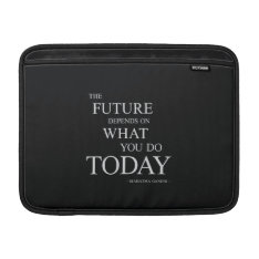 The Future Inspiring Motivational Quote Macbook Air Sleeve at Zazzle