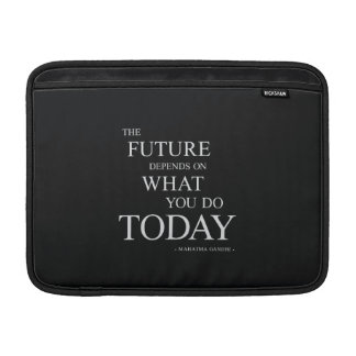 The Future Inspiring Motivational Quote MacBook Sleeves