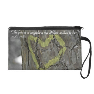 The future is anywhere my Heart... Wristlet Bag