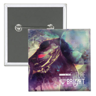 The Future is Bright, Myrtle the Turtle 2 Inch Square Button