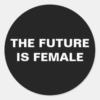 The future is female - Black/White Glossy Sticker