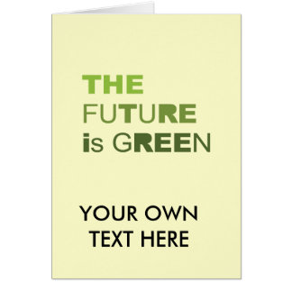 THE FUTURE IS GREEN  - CARDS