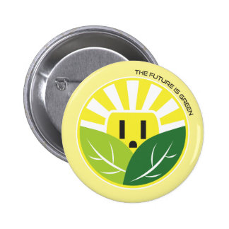 The Future is Green Pinback Button