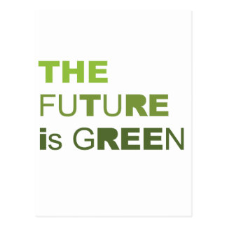 THE FUTURE IS GREEN  - POST CARDS