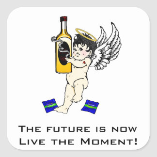 The future is now, live the moment! sticker
