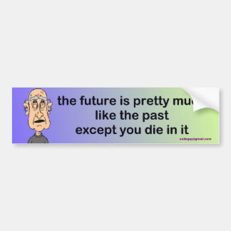 the future is pretty much like the past... bumper sticker
