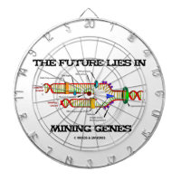 The Future Lies In Mining Genes (DNA Replication) Dartboard With Darts