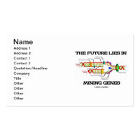 The Future Lies In Mining Genes (DNA Replication) Double-Sided Standard Business Cards (Pack Of 100)