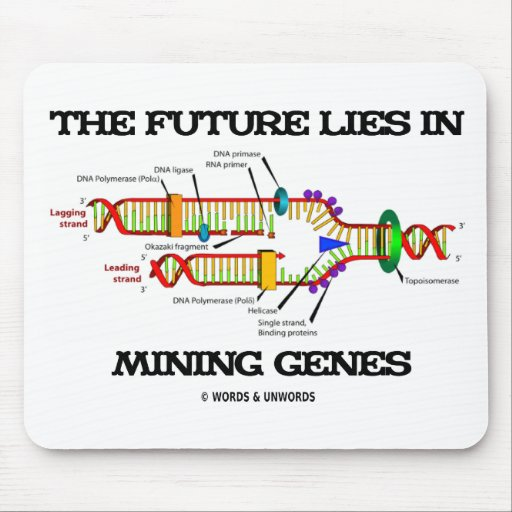 The Future Lies In Mining Genes (DNA Replication) Mouse Pad