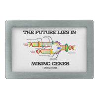 The Future Lies In Mining Genes (DNA Replication) Rectangular Belt Buckles