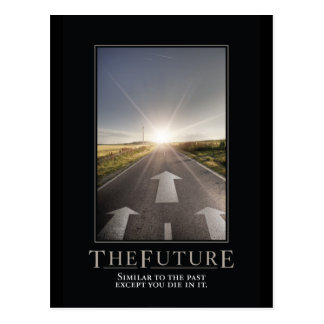 The Future Motivational Parody Postcard