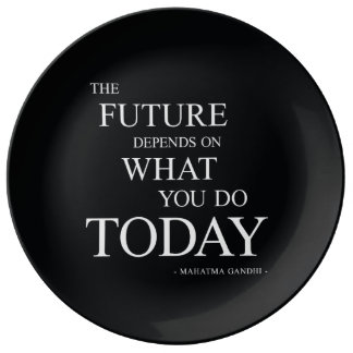 The Future Motivational Words Plate